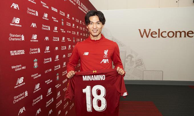Minamino là tân binh đáng chú ý của Liverpool