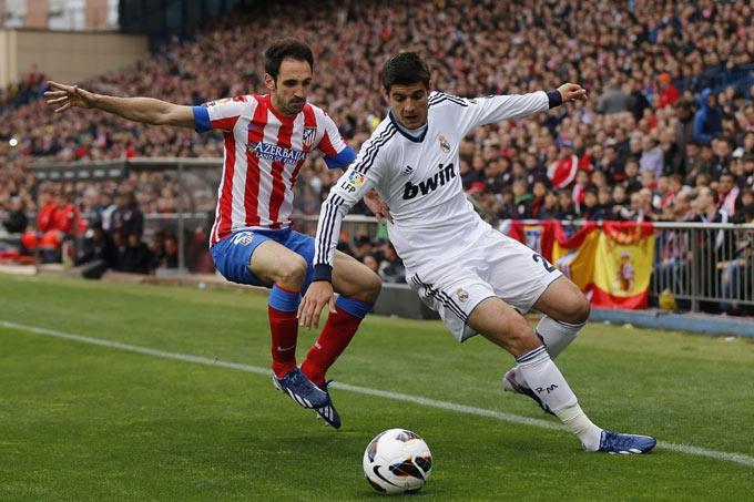 Morata nổi danh chuyên gia derby nhưng chưa từng ghi bàn trong các trận derby Madrid, kể cả khi còn khoác áo Real