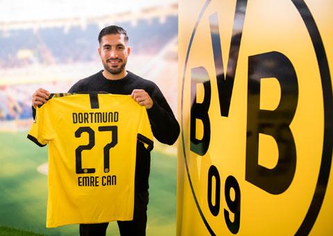Emre Can trở về Đức khoác áo Dortmund với hy vọng sẽ được dự EURO 2020 vào Hè tới