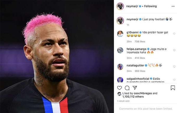 Neymar kêu trời trên mạng xã hội