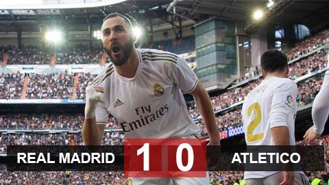 Kết quả Real 1-0 Atletico: Benzema lập công, Atletico trả giá vì công cùn