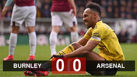 Burnley 0-0 Arsenal: Pháo thủ vẫn chưa dứt mạch không thắng