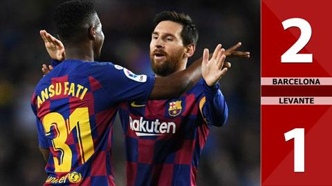 Barca 2-1 Levante(Vòng 21 La Liga 2019/20)