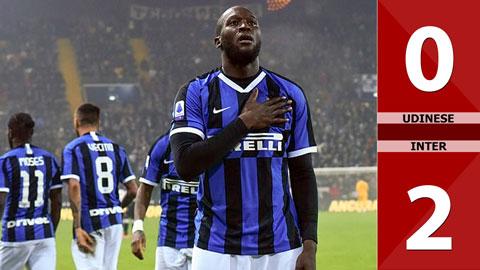 Udinese 0-2 Inter(Vòng 21 Seri A 2019/20)