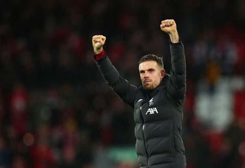 Jordan Henderson được Klopp xem là chìa khóa chiến thắng của Liverpool