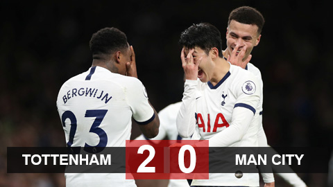 Tottenham 2-0 Man City: Tottenham giúp Liverpool tiến gần tới ngôi vô địch