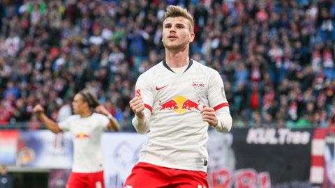 Werner sẽ lại ghi bàn giúp Leipzig vượt qua chủ nhà Frankfurt để vào tứ kết Cúp QG