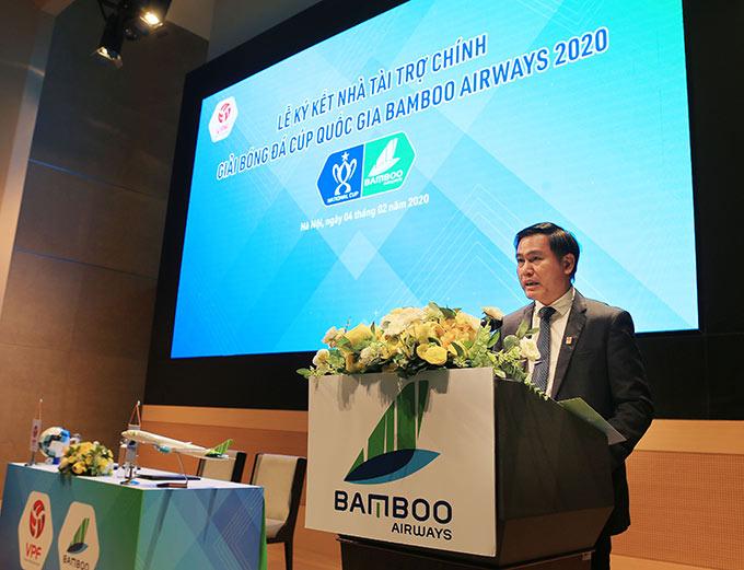 Ông Trần Anh Tú - Chủ tịch HĐQT, Tổng giám đốc VPF hy vọng Cúp Quốc gia 2020 sẽ mang đến những trận cầu hấp dẫn - Ảnh: Đức Cường