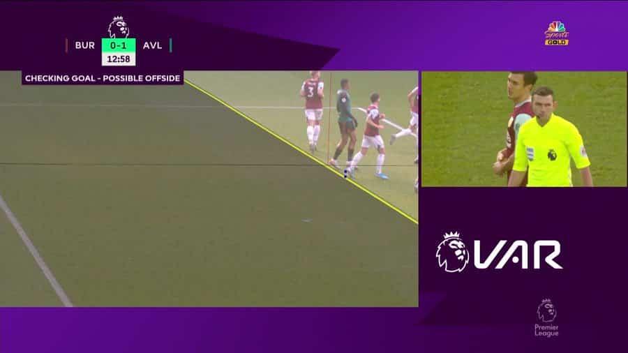 Tình huống VAR từ chối bàn thắng của Aston Villa