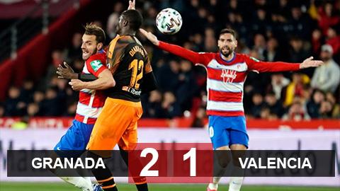 Kết quả Granada 2-1 Valencia: Rodrigo đá hỏng phạt đền, Valencia thua đau Granada ở tứ kết cúp Nhà vua Tây Ban Nha