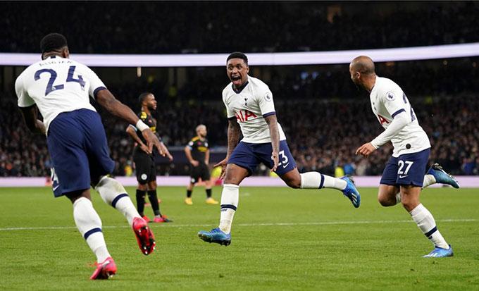 Bergwijn ghi bàn mở ra chiến thắng cho Tottenham trước Man City