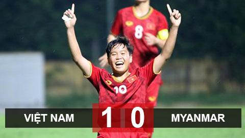 ĐT nữ Việt Nam 1-0 ĐT nữ Myanmar: Tiến sát vé dự Olympic 2020