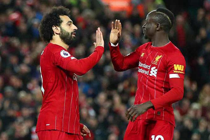 Salah và Mane đang miệt mài tỏa sáng giúp Liverpool tiến thần tốc trong cuộc đua vô địch Premier League