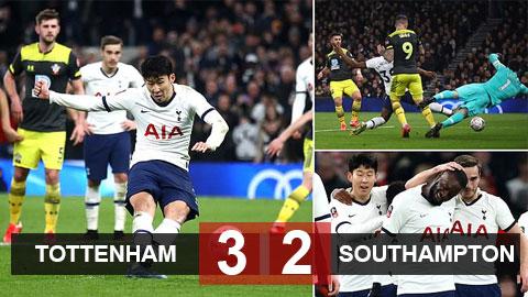 Tottenham 3-2 Southampton: Son ghi bàn phút cuối, Tottenham ngược dòng nghẹt thở