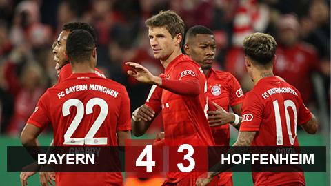 Bayern Munich 4-3 Hoffenheim: Hàng thủ thảm họa, Hùm xám chật vật đi tiếp