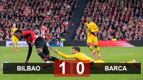 """Bilbao 1-0 Barca: Messi """"tịt ngòi"""", Barca bị loại khỏi cúp Nhà vua Tây Ban Nha như Real"""