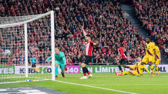 Bilbao xuất sắc đánh bại Barca đúng vào phút cuối