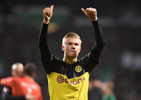 Erling Haaland đang thăng hoa cùng Dortmund