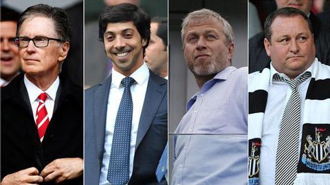 Đội nào ở Premier League có ông chủ nhiều tiền nhất hiện nay?