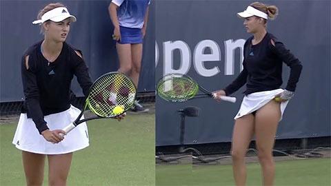 Thân hình gợi cảm của Anna Kalinskaya đủ sức đánh bật cả Sharapova lẫn Bouchard