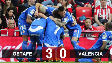 Kết quả Getafe 3-0 Valencia: Getafe vào top 3, quyết bám đuổi Barca và Real