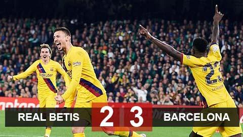 Betis 2-3 Barca: Messi lập hat-trick kiến tạo, Barca ngược dòng trong trận cầu có 2 thẻ đỏ