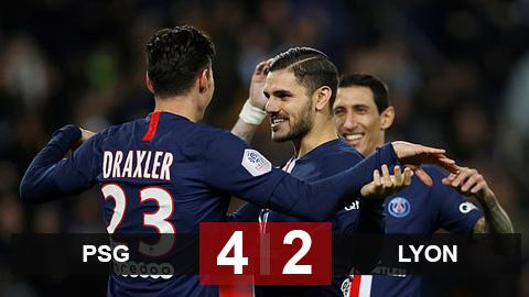 PSG 4-2 Lyon: Không Neymar, PSG vẫn nối dài mạch bất bại lên 21 trận