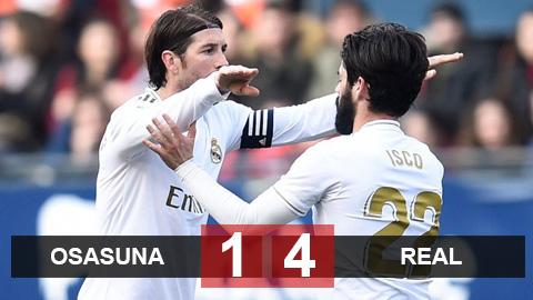 Osasuna 1-4 Real Madrid: Những cái tên ít kỳ vọng bất ngờ tỏa sáng