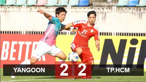 """Yangon 2-2 TP.HCM: Công Phượng """"giải khát"""", TP.HCM giật lại 1 điểm quý giá từ chủ nhà Yangon"""