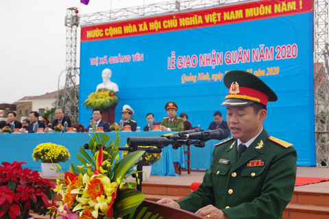 Lễ giao nhận quân ở Thị xã Quảng Yên, Quảng Ninh