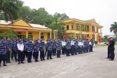 Lữ đoàn 147 Hải quân tiếp nhận chiến sĩ mới từ các địa phương