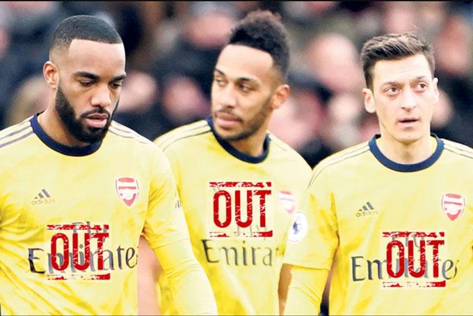 Bộ ba Lacazette, Aubameyang và Oezil có thể rời Arsenal sau mùa giải này