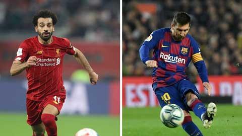 10 cầu thủ chạy cánh phải đắt nhất thế giới: Salah vượt mặt Messi