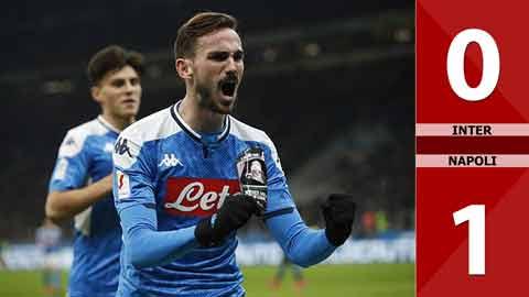Inter 0-1 Napoli(bán kết lượt đi Coppa Italia 2019/20)