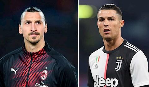 Ibrahimovic (trái) và Ronaldo liên tục tỏa sáng dù đã cao tuổi