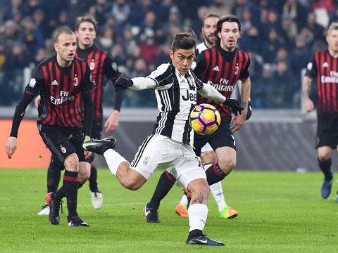 Lần gần nhất đối đầu Milan, Dybala ghi bàn duy nhất mang về chiến thắng cho Juventus