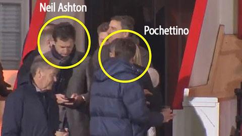 Mauricio Pochettino và Neil Ashton xuất hiện trên khán đài trận Brentford gặp Leeds