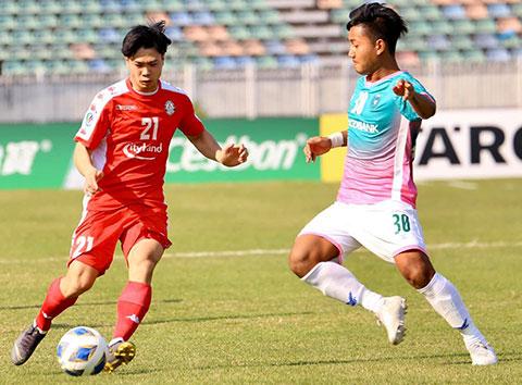 Công Phượng đã ghi bàn cho CLB TP.HCM tại AFC Cup 2020. Ảnh: CLB TP.HCM