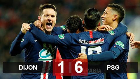 """Dijon 1-6 PSG: """"Đập"""" Dijon như chơi tennis, PSG vào bán kết cúp quốc gia Pháp"""