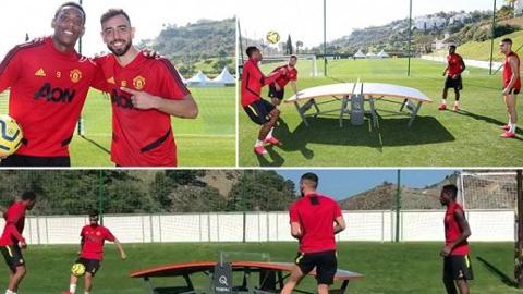 Tân binh Bruno Fernandes khiến đồng đội thán phục ở môn bóng bàn đặc biệt