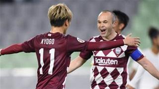 Iniesta lập cú đúp kiến tạo, Vissel Kobe đại thắng CLB của Malaysia