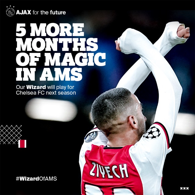 Thông báo đượm buồn của Ajax về trường hợp của Ziyech