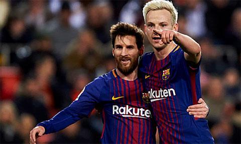 Rakitic ca ngợi Messi vĩ đại nhất lịch sử