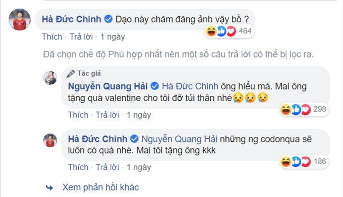 Quang Hải vòi quà Đức Chinh ngày Lễ tình nhân