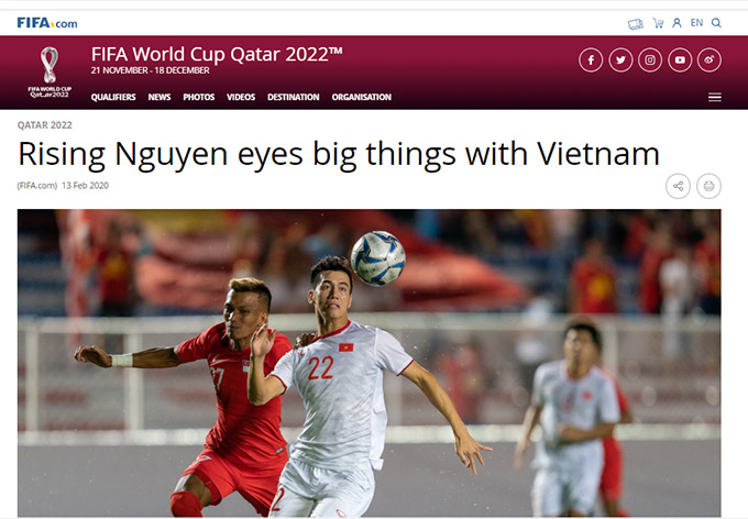 Tiến Linh trả lời phỏng vấn với FIFA