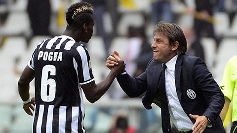 Paul Pogba thi đấu cực kỳ ấn tượng trong màu áo Juventus dưới thời Conte