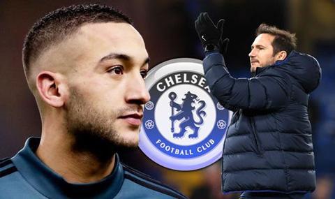 Lampard rất hài lòng về tân binh Ziyech