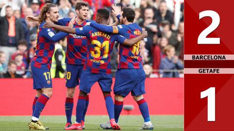 Barcelona 2-1 Getafe(Vòng 23 La Liga 2019/20)