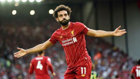 Salah, một cú đúp để sánh ngang Owen