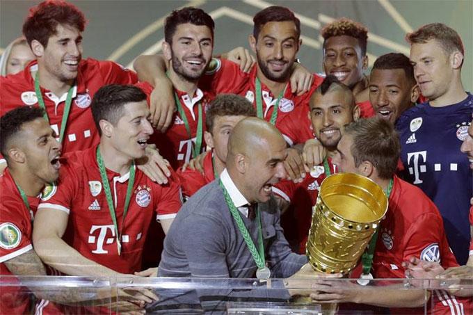 HLV Guardiola từng gặt hái được nhiều thành công cùng Bayern